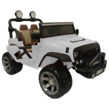 электромобиль RiverToys Jeep А004АА, белый