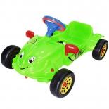 педальная машина RT Herbi с музыкальным рулем зеленая