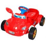 педальная машина RT Молния с музыкальным рулем, красная