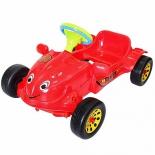 педальная машина RT Herbi с музыкальным рулем красная
