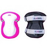 защита роликовая Globber Junior (540-110) размер XXS, нарукавники и наколенники, розовая