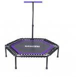 батут спортивный Basefit TR-401 112 см с держателем, фиолетовый