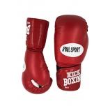 перчатки боксерские REALSPORT RS112 12 унций, красные