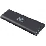 корпус для жесткого диска AgeStar 3UBNF1C m2 NGFF 2280 B-Key (для SSD) серый