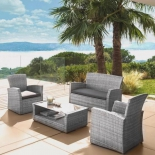 комплект садовой мебели с диваном AFM-405B, серый