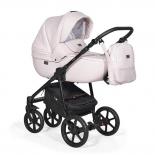 коляска Indigo PRIMA Po 04 светло розовая кожа+светло розовый лен