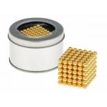 головоломка Антистресс магнит Neocube 216 шариков золотой