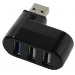 USB-концентратор Orient CU-312 USB3.0/2.0 Hub 3-port,  поворотный