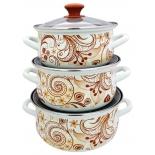 набор посуды для готовки КМЗ Нежный шорох 1 ЭКСТРА (3 предмета)