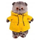 игрушка мягкая BudiBasa Басик в желтой куртке B&Co 19 см (Ks19-084) BudiBasa