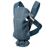 рюкзак-кенгуру BabyBjorn Mini Cotton Jersey 0210, 31 Пепельно-синий