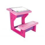 парта детская Pilsan Study Bench, фиолетово-розовая