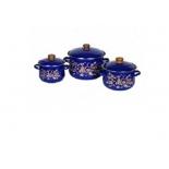 набор посуды для готовки СтальЭмаль 1с408  Драгоценный, 3  кастрюли
