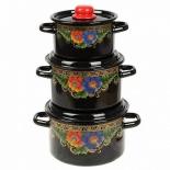 набор посуды для готовки СтальЭмаль 1с112 Вологда (3 предмета)