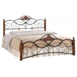 кровать TetChair CANZONA двуспальная  140х200 см черный/красный дуб