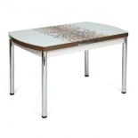 стол обеденный TetChair MARMARIS Model 18, бело-коричневый узор