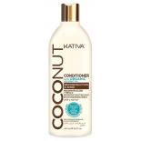 косметика для волос Кондиционер Kativa COCONUT с органическим кокосовым маслом (500 мл)