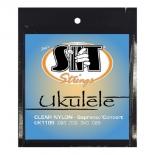 аксессуар к музыкальному оборудованию cтруны для укулеле SIT Strings UK110S, Ukulele Standard (Soprano / Concert)