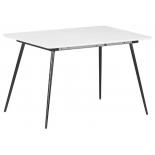 стол обеденный TetChair VIRGO (mod.8053), 120/160х80х76см, белый/черный