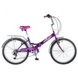 велосипед Novatrack 24 (24FFS6SV.VL8-1) складной, фиолетовый