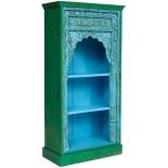 шкаф Secret de Maison Alhambra 180224 книжный, синяя патина