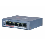 коммутатор (switch) Hikvision DS-3E0105P-E/M (B) 4 PoE