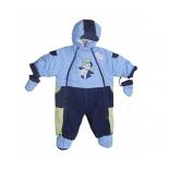 детская одежда комбинезон-трансформер Золотой Гусь, мех (рост 74), голубой