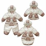 одежда для новорожденных комбинезон-трансформер Золотой гусь Зимушка, принт (рост 74), бежевый