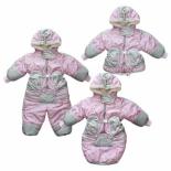 одежда для новорожденных комбинезон-трансформер Золотой гусь Зимушка, принт (рост 74), розовый