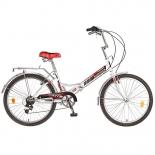 велосипед Novatrack 24 FS бело-красный