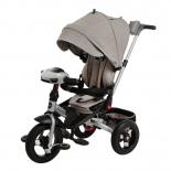 Трехколесный велосипед Leader Moby Kids New 360° 12x10 AIR Car, серый