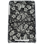чехол для смартфона спинка E-cell FLORAL BLACK & WHITE PROTECTIVE HARD BACK CASE