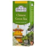 чай Ahmad Tea, Chinese Green Tea, пакетики с ярлычками  25х1,8г