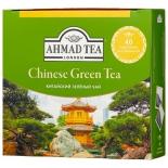 чай Ahmad Tea, Chinese Green Tea, пакетики без ярлычков, (40х1,8г)