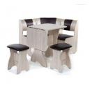 мебельный гарнитур Бител Тюльпан-мини ясень/шоколад С-221, бежевый C-101