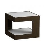 столик журнальный LeSet LS 746 02.11 корпус-венге,стекло-белое