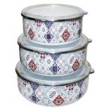 контейнер для продуктов Interos Марокко (3шт) эмалированные