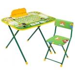 комплект детской мебели Nika Первоклашка (NK-75/2) с пеналом