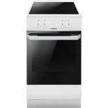 плита Hansa FCCW530001 электрическая, бело-черная