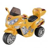 электромобиль RiverToys МОТО HJ 9888 желтый