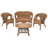 комплект садовой мебели TetChair Mandalino 05/21 ротанг, плетение-банановые листья, walnut