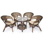 комплект садовой мебели Tetchair PELANGI  02/15 ротанг, 4 кресла, мед