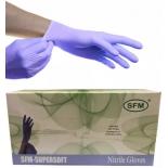 перчатки смотровые SFM-supersoft Nitrile, 50шт, размер S