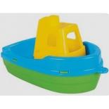игрушка для купания Pilsan (06-132) лодка, Синий корпус/желтая палуба