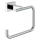 держатель для туалетной бумаги Grohe 40507001 Essentials Cube без крышки, хром (40507001)
