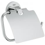 держатель для туалетной бумаги Grohe 40367001 Essentials с крышкой, хром (40367001)