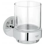 стакан для зубных щеток Grohe 40447001 Essentials, хром (40447001)