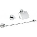 набор аксессуаров для ванной комнаты Grohe 40775001 Essentials (3 предмета), хром (40775001)