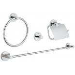 набор аксессуаров для ванной комнаты Grohe 40776001 Essentials (4 предмета), хром (40776001)