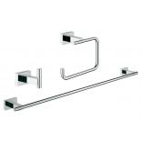 набор аксессуаров для ванной комнаты Grohe 40777001 Essentials Cube (3 предмета), хром (40777001)
